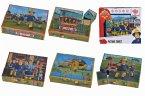 Simba 109255600 - Feuerwehrmann Sam Bilderwürfel, 16x12cm, Puzzle