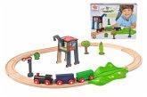Eichhorn 100001261 - Eisenbahn, Holzeisenbahn, Konstruktionsspielzeug, 18-tlg