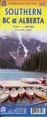 International Travel Map ITM Southern British Columbia & Alberta