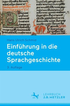 Einführung in die deutsche Sprachgeschichte (eBook, PDF) - Schmid, Hans Ulrich