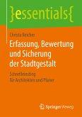 Erfassung, Bewertung und Sicherung der Stadtgestalt (eBook, PDF)