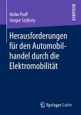 Herausforderungen für den Automobilhandel durch die Elektromobilität (eBook, PDF)
