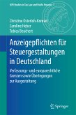 Anzeigepflichten für Steuergestaltungen in Deutschland (eBook, PDF)