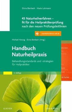 Handbuch Naturheilpraxis + 45 Naturheilverfahren - fit für die Heilpraktikerprüfung, Set - Bierbach, Elvira; Herzog, Michael