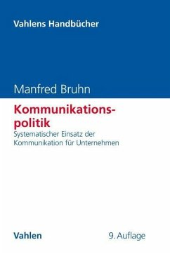 Kommunikationspolitik - Bruhn, Manfred