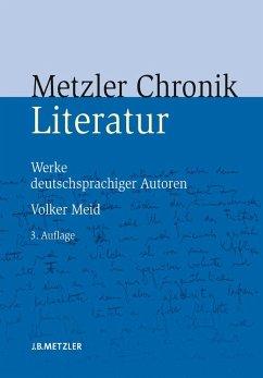 Metzler Literatur Chronik (eBook, PDF) - Meid, Volker