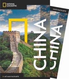NATIONAL GEOGRAPHIC Reiseführer China mit Maxi-Faltkarte (Mängelexemplar) - Harper, Damian; Wright, Alison