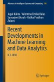 Recent Developments in Machine Learning and Data Analytics