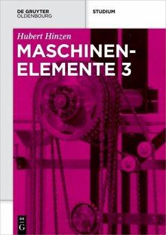 Maschinenelemente 3 (eBook, ePUB) - Hinzen, Hubert