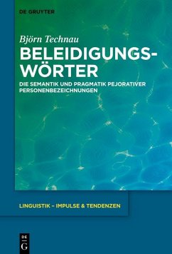 Beleidigungswörter (eBook, PDF) - Technau, Björn