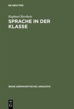 Sprache in der Klasse (eBook, PDF) - Berthele, Raphael
