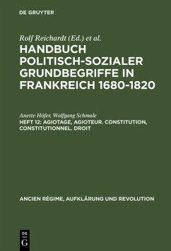 Agiotage, agioteur. Constitution, constitutionnel. Droit (eBook, PDF) - Höfer, Anette; Schmale, Wolfgang