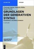 Grundlagen der generativen Syntax (eBook, PDF)
