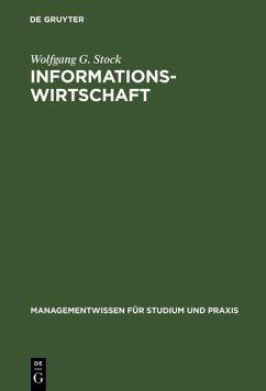 Informationswirtschaft (eBook, PDF) - Stock, Wolfgang G.