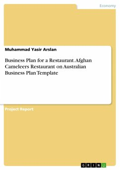 Business Plan for a Restaurant. Afghan Cameleers Restaurant on Australian Business Plan Template
