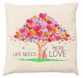 Oups-Zirbenkissen groß (30 x 30 cm) - Life Needs More Love