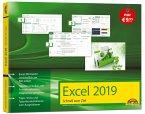 Excel 2019 Schnell zum Ziel. Alles auf einen Blick - Excel 2019 optimal nutzen. Komplett in Farbe. Für Einstiger und Umsteiger im praktischen Querformat
