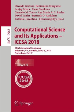 Computational Science and Its Applications - ICCSA 2018