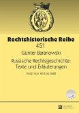Russische Rechtsgeschichte: Texte und Erlaeuterungen (eBook, ePUB)