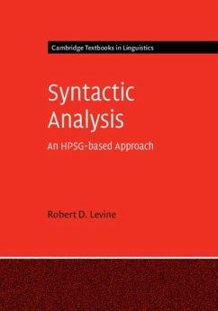 Syntactic Analysis (eBook, PDF) - Levine, Robert D.