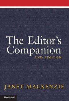 Editor's Companion (eBook, ePUB) - Mackenzie, Janet