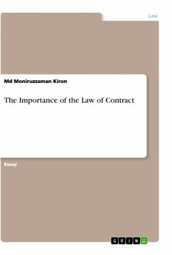 The Importance of the Law of Contract - Kiron, Md Moniruzzaman