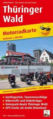 PUBLICPRESS Motorradkarte Thüringer Wald