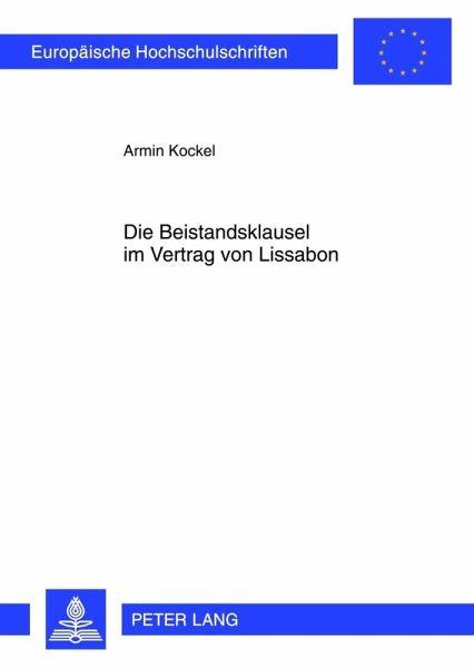 Die Beistandsklausel Im Vertrag Von Lissabon Ebook Pdf Von Armin