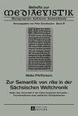 Zur Semantik von rike in der Saechsischen Weltchronik (eBook, ePUB)