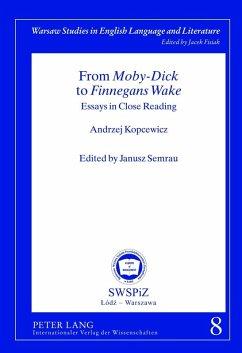 From Moby-Dick to Finnegans Wake (eBook, PDF) - Semrau, Janusz
