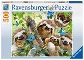 Ravensburger 14790 - Faultier Selfie, Puzzle, 500 Teile