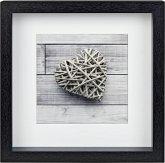 Hama Scala 3D schwarz 23x23 Portrait Holz Passepartout 59773