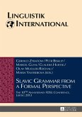Slavic Grammar from a Formal Perspective (eBook, PDF)