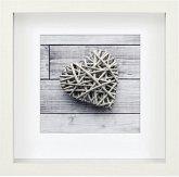 Hama Scala 3D weiß 23x23 Portrait Holz Passepartout 59777