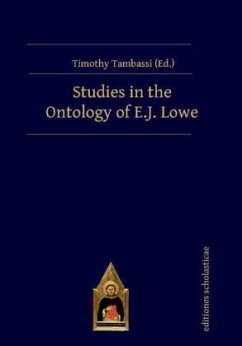 Studies in the Ontology of E.J. Lowe - Tambassi, Timothy