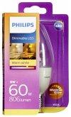 Philips LED Kerze E14 8W (60W) warmweiß 806lm klar