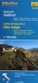 Carta cicloturistica Alto Adige