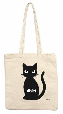 Katze mit Fisch, Stofftasche