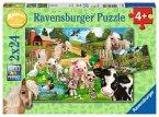 Ravensburger 07830 - Tierfreunde/Animal Club, 2 x 24 Teile Puzzle