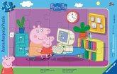 Ravensburger 06123 - Peppa Pig, Peppa am Computer, Rahmenpuzzle, 15 Teile, Puzzle