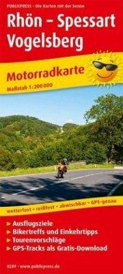 PublicPress Motorradkarte Rhön - Spessart - Vogelsberg