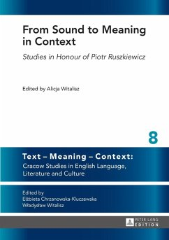 From Sound to Meaning in Context (eBook, PDF)
