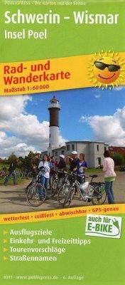 PublicPress Rad- und Wanderkarte Schwerin - Wis...