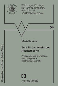 Zum Erkenntnisziel der Rechtstheorie (eBook, PDF) - Auer, Marietta