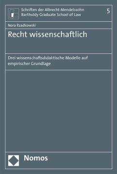 Recht wissenschaftlich (eBook, PDF) - Rzadkowski, Nora