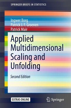Applied Multidimensional Scaling and Unfolding (eBook, PDF) - Borg, Ingwer; Groenen, Patrick J.F.; Mair, Patrick