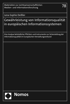 Gewährleistung von Informationsqualität in europäischen Informationssystemen (eBook, PDF) - Deißler, Lena-Sophie
