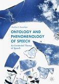 Ontology and Phenomenology of Speech (eBook, PDF)