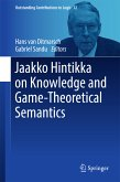 Jaakko Hintikka on Knowledge and Game-Theoretical Semantics (eBook, PDF)
