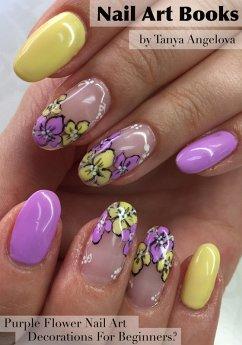 Nail Art Books: Purple Flower Nail Art Decorati...